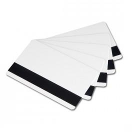 Cartes blanches vierges 0,76mm à piste magnétique HiCo - Boîte de 500
