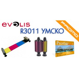 Evolis Pebble HighTrust cinta color YMCKO R3011