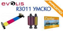 Evolis Pebble HighTrust cinta color YMCKO R3011